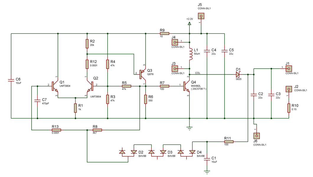 Транзисторы Q1,Q2 – любые NPN,