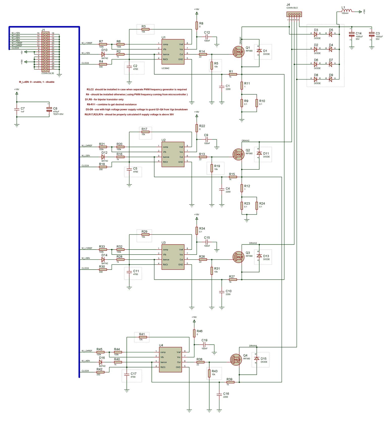 схема блок питания irfz44